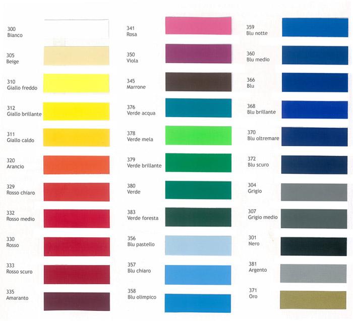 Adesivi vinili da intaglio pubblicitari personalizzati for Tabella per mescolare i colori